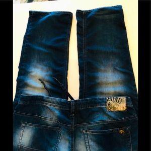 Buffalo Men's Fred-X EasyFit Stretch Jeans, 38,EUC